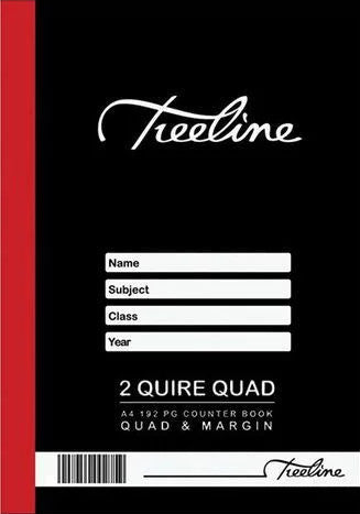 A4 Hard Cover 2 Quire Quad Ruled Counter Book (192 Pages)