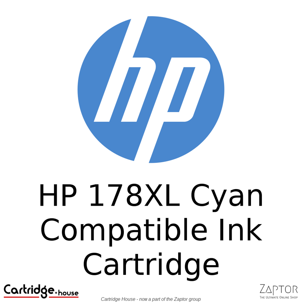 HP 178XL Cyan Compatible Ink Cartridge (CB323HE)
