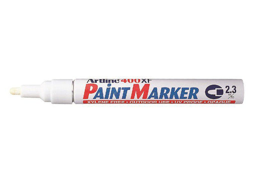 Artline - EK 400 Medium Point Permanent White Paint Marker 2.3mm