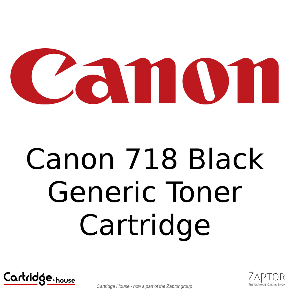 Generic / Compatible Canon 718 Black Toner Cartridge (CRG-718)