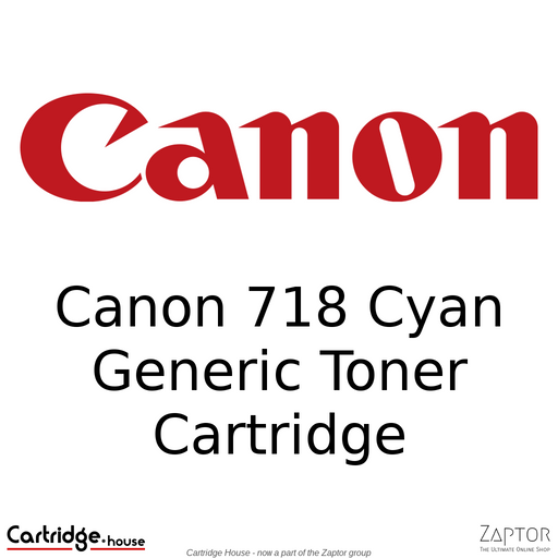 Generic / Compatible Canon 718 Cyan Toner Cartridge (CRG-718)