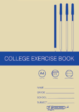 College Exercise Book - A4, 72 Page 17mm F&M Ruled (5 Pack)