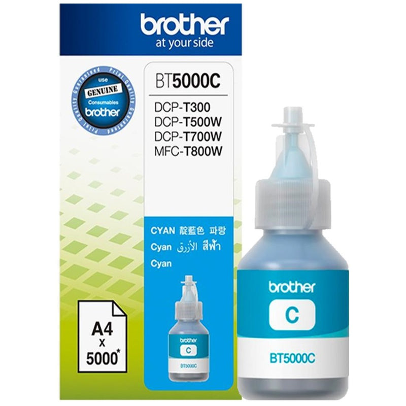 Brother BT5000C Ultra High Yield Cyan Ink Bottle