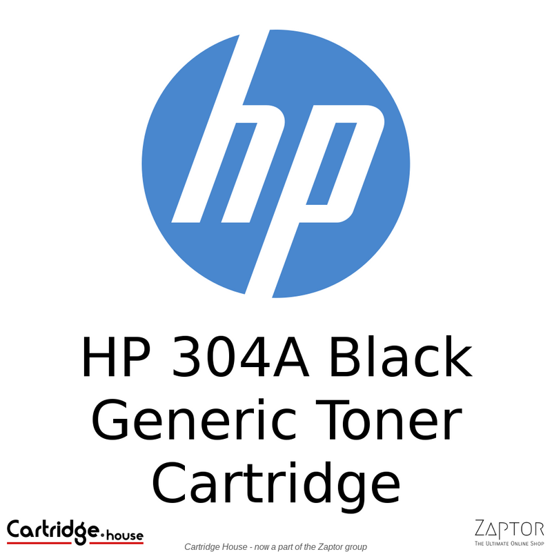 HP 304A Black Compatible Toner Cartridge (CC530A)