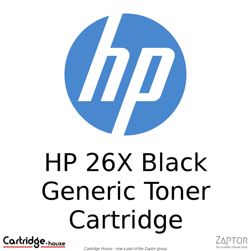 HP 26X High Yield Compatible Toner Cartridge (CF226X)