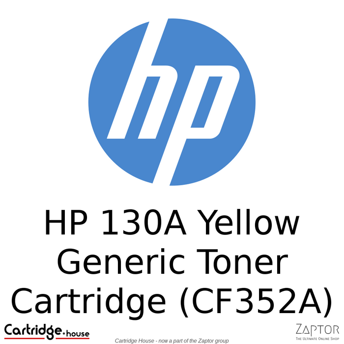 HP 130A Yellow Generic/Compatible LaserJet Toner Cartridge (CF352A)