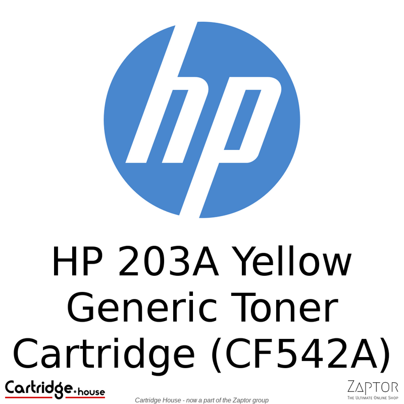 HP 203A Yellow Compatible Toner Cartridge (CF542A) - Alternate Brand