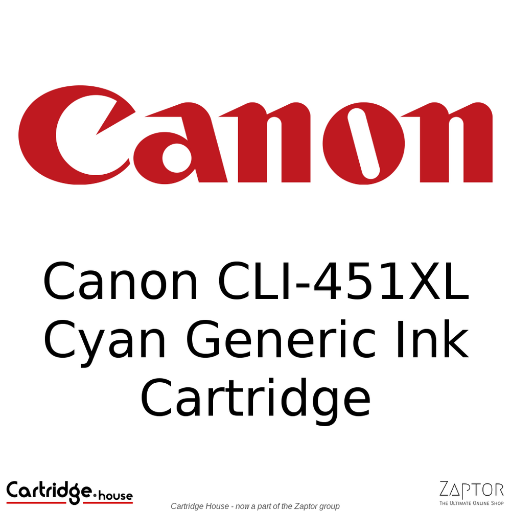 Canon CLI-451XL Cyan Generic Ink Cartridge