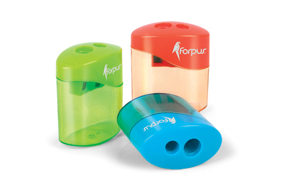 Pencil sharpener with container