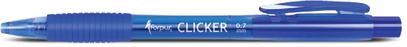 "Ballpoint pen ""CLICKER"" 0.7mm - Black, Blue or Red"