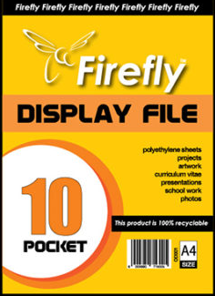 A4 Firefly Pocket Flip File 10pg