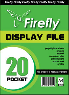 A4 Firefly Pocket Flip File 20pg