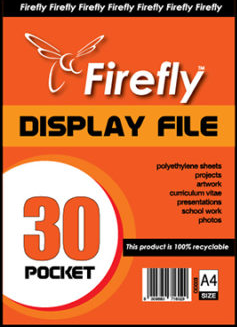 A4 Firefly Pocket Flip File 30pg