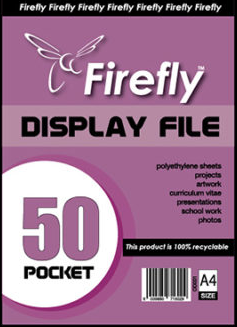 A4 Firefly Pocket Flip File 50pg
