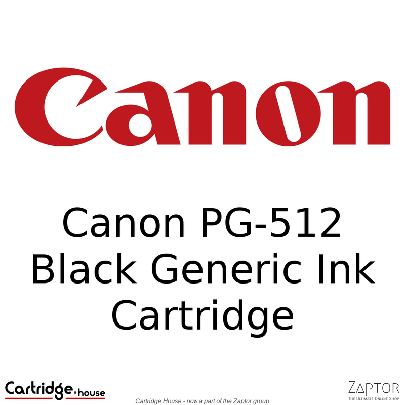Canon PG-512 Black Remanufactured Cartridge