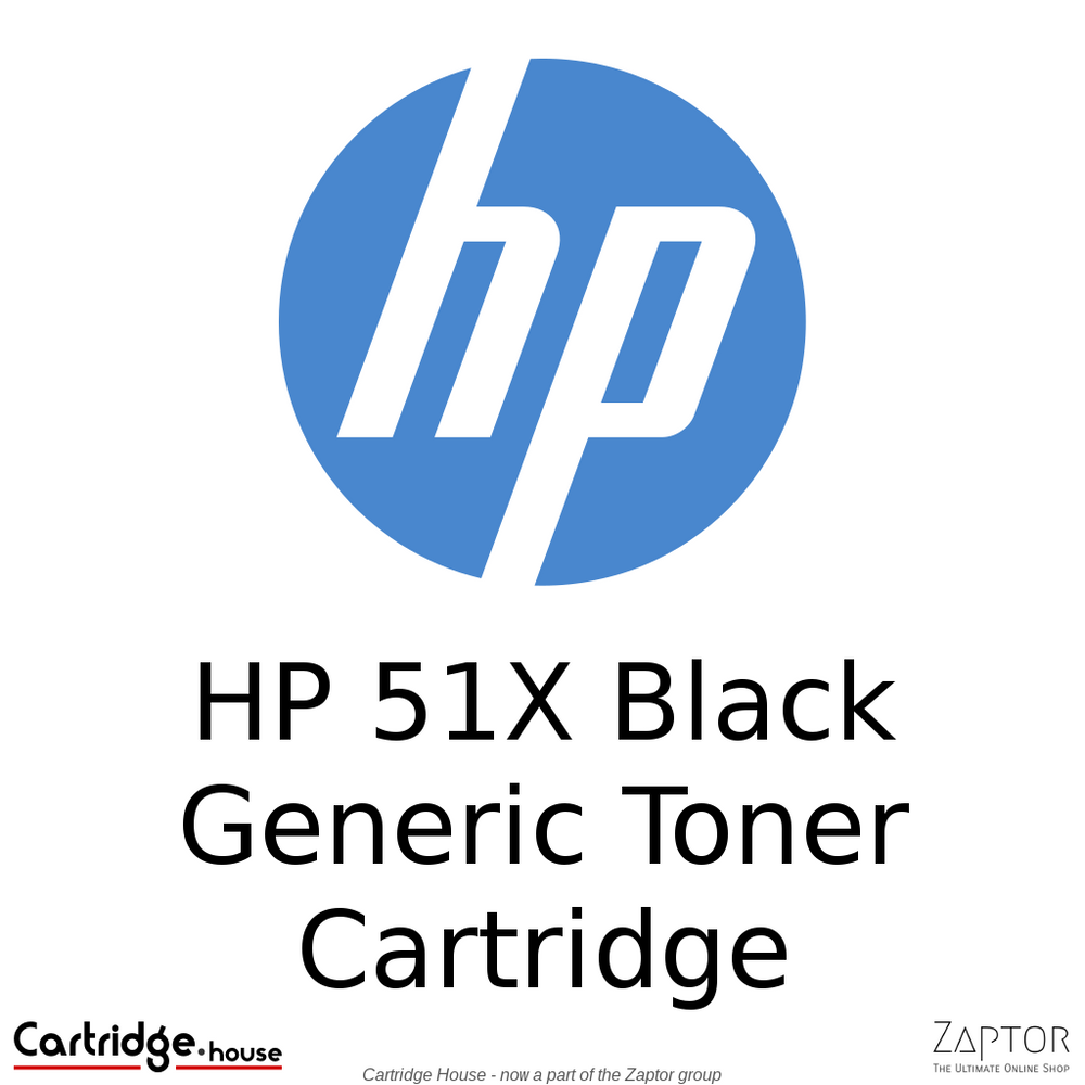 HP 51X Black High Yield Generic Toner Cartridge (Q7551X)
