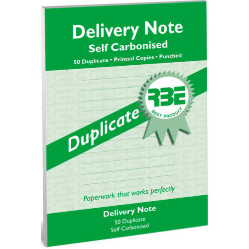 A5 Delivery Note Duplicate Pads