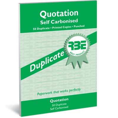 A5 Quotation Duplicate Pads