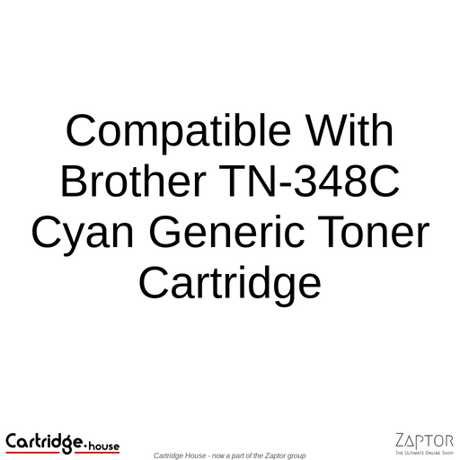 Compatible With Brother TN-348C Cyan Toner Cartridge