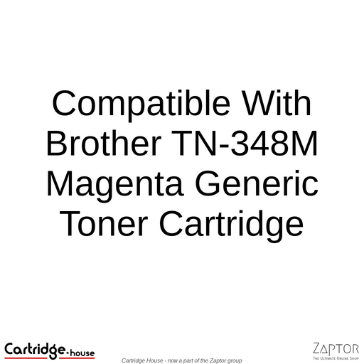 Compatible With Brother TN-348M Magenta Toner Cartridge