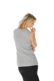 'LUDOVICA' double-knitted mohair vest - Light Grey