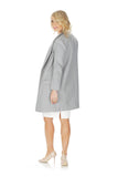 'CELESTINE-2' transformable wool coat - Light Grey