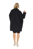 'AMARIS' alpaca oversized winter coat - Black Midnight