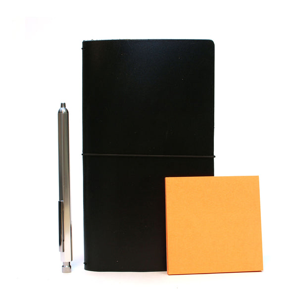 Size compared to a pen and a standard post-it