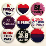 Bisexual Pride Button Set