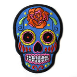 Blue Rose Sugar Skull Patch
