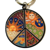 Peace Sign Symbol Key Ring