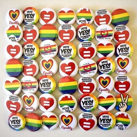 Marriage Equality Button Lot x50