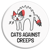 Cats Against Creeps Button