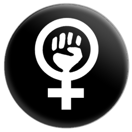 Feminist Power Symbol Button