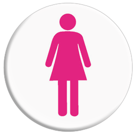 Female Toilet Symbol Button