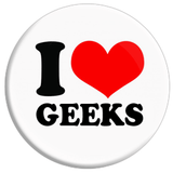 I Love Geeks Button