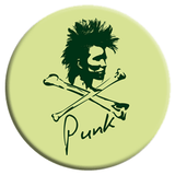 Punk and Crossbones Button