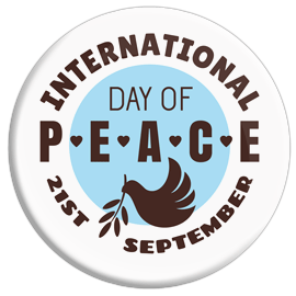 International Day of Peace Sept 21 Button