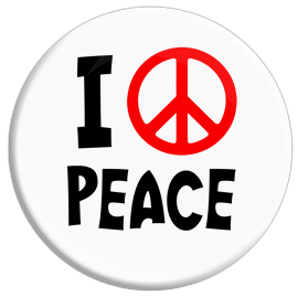 I Love Peace Button