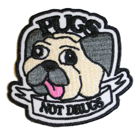 Pugs Not Drugs Patch