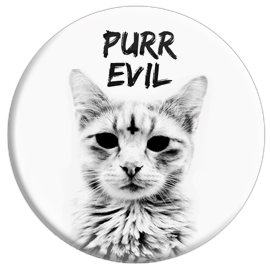 Purr Evil Button