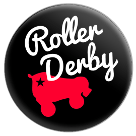 Roller Derby Skate Button