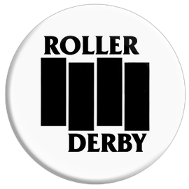 Roller Derby Flag Button