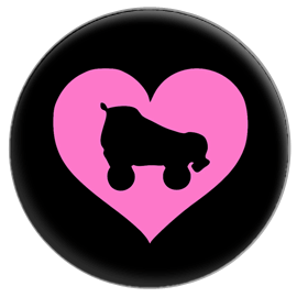 Roller Derby Heart Button