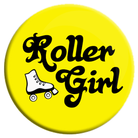 Roller Girl Button