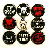 Spooky Creepy Button Set