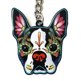 Boston Terrier Key Ring