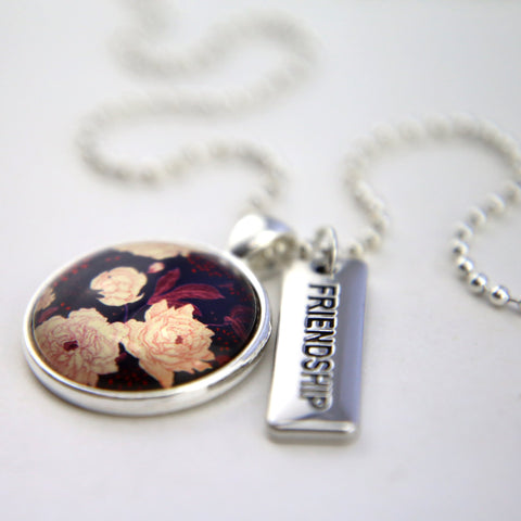 HEART & SOUL FLORALS COLLECTION - BRIGHT SILVER 'FRIENDSHIP' NECKLACE - PROVIDENCE