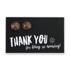 Heart & Soul  Collection - Thankyou for being so amazing! - Rose Gold surround Circle Studs - Amor (9106)