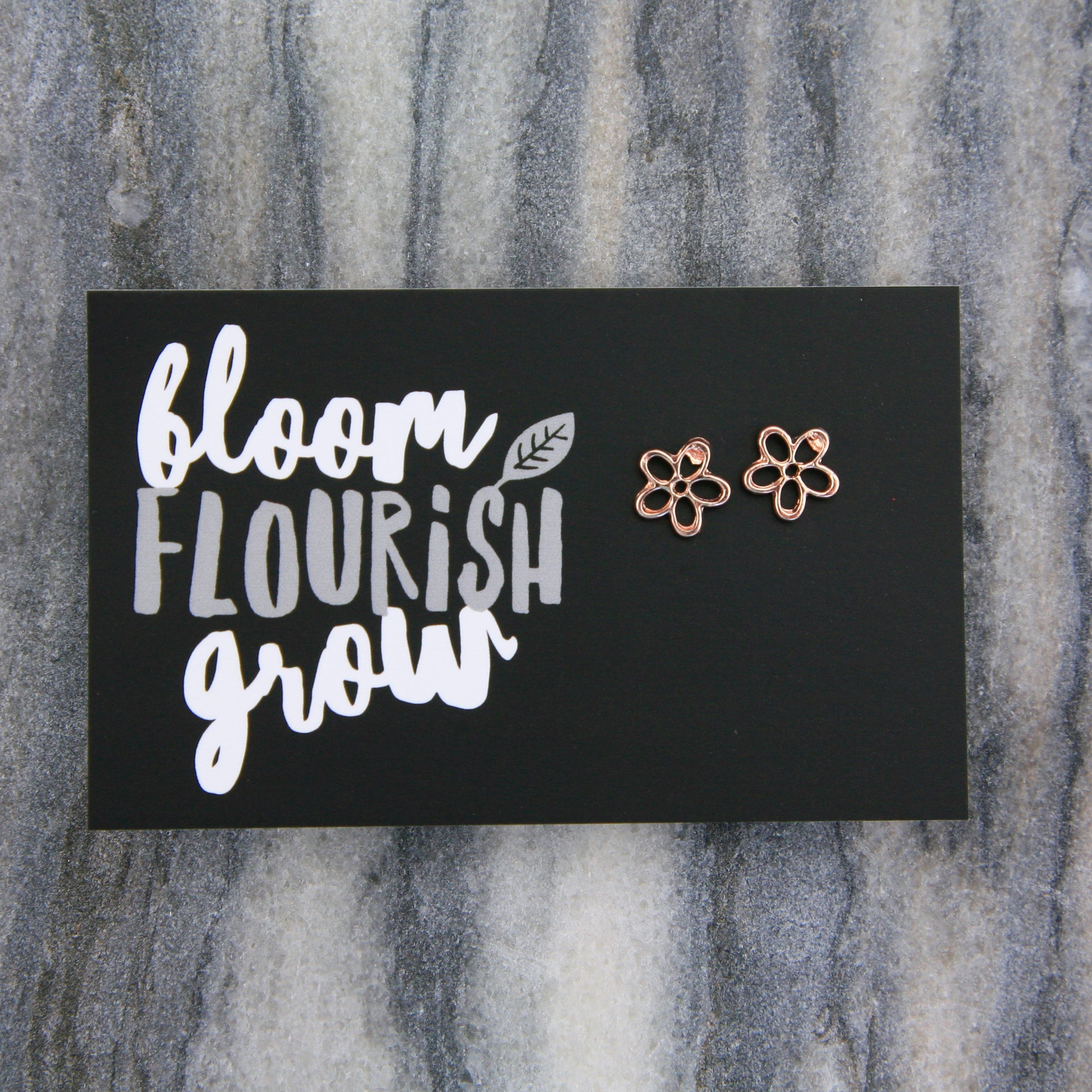 Forever Spring - BLOOM FLOURISH GROW! Daisy Earring Studs - Rose Gold (9716)